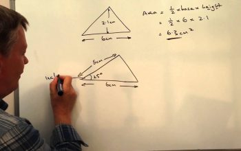 How To Calculate The Area Of A Right Angled Triangle